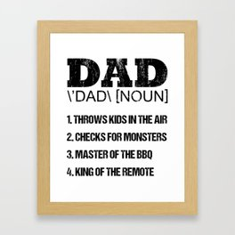 Father's Day Father Phonetics King Daddy Gift Framed Art Print