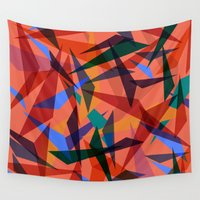 america Wall Tapestries featuring Party America by Calepotts