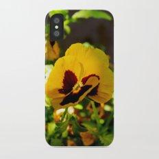 Yellow pansy garden iPhone X Slim Case