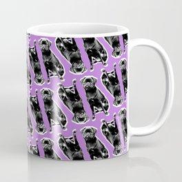 PUG SUKI PATTERN - SITTING - PURPLE Coffee Mug