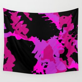 Fuchsia and black abstract Wall Tapestry