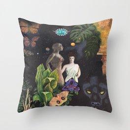 Virgo- Zodiac Wildlife Series Throw Pillow