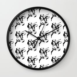 Follow the Herd All Over Black #819 Wall Clock