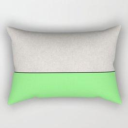 Bathing Conrete - In Matt Green, pop art, geometric style Rectangular Pillow