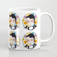 dracula Mugs featuring DRACULA by Imago
