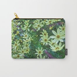 Whimsical Yellow Daisies Carry-All Pouch