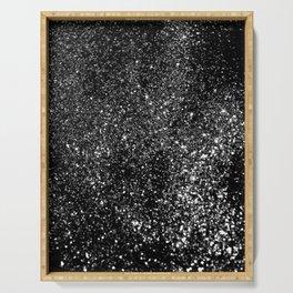 Black Night Glitter #1 #shiny #decor #art #society6 Serving Tray