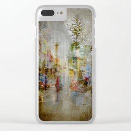 Iceland Street Scene Clear iPhone Case