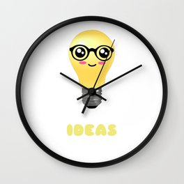 I Have Lots Of Ideas Funny Light Bulb Pun Wall Clock