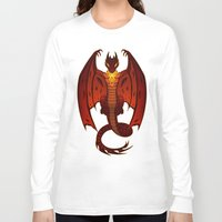 smaug Long Sleeve T-shirts featuring The Hobbit- Smaug by prpldragon