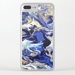 ocean blue Clear iPhone Case