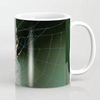 spider Mugs featuring Spider by Dora Birgis