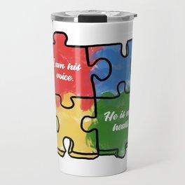 Autism Child Love Puzzle Asperger-Syndrome Gift Travel Mug