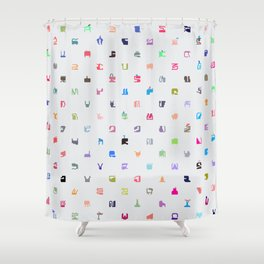 Everything and Everyone Shower Curtain