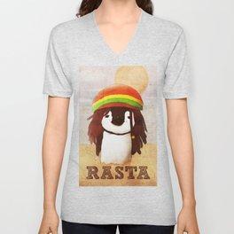 Reggae Penguin Unisex V-Neck