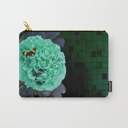 Blue Peonia Carry-All Pouch
