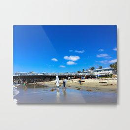 San Diego Beach Boardwalk/Crystal Pier Metal Print