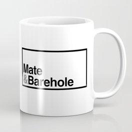 Mate & Barehole / Crate and Barrel Logo Spoof Coffee Mug