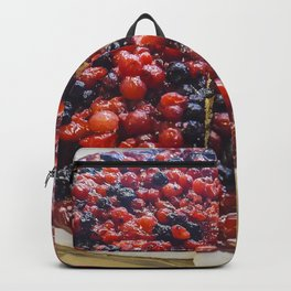 Cheesecake of red fruits Backpack