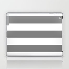 Gray (HTML/CSS gray) -  solid color - white stripes pattern Laptop & iPad Skin
