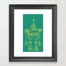 Yellow Robot Framed Art Print