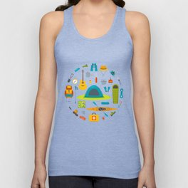 Let's Go Camping! Unisex Tank Top