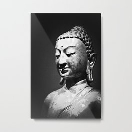 The Buddha, Portrait in Black and White  Metal Print