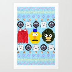 Don't Hug Me I'm Sweater Art Print