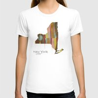new york map T-shirts featuring new york state map by bri.buckley