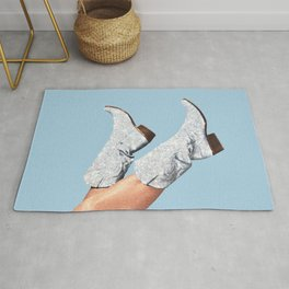 These Boots - Glitter Blue Rug