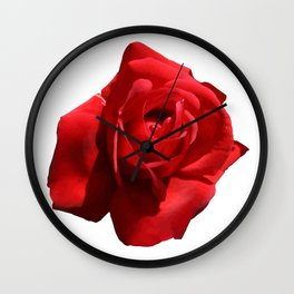 Red Rose Isolated Wall Clock