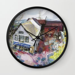 View from The Bistro, early Spring 1998 Wall Clock