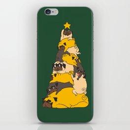 Christmas Tree Pugs iPhone Skin