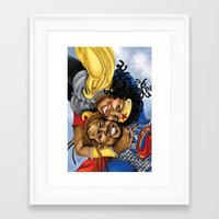 superheros Framed Art Prints featuring Super Croslands by Geninne John-Crosland