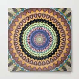 Recreational Maylanta Mandala 11 Metal Print
