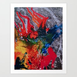 Abstract Colored Art Print