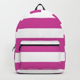 Barbie Pink (1975-1990) - solid color - white stripes pattern Backpack
