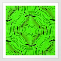 lime green Art Prints featuring Lime Green by Sartoris ART