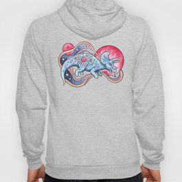 Star Tricera | Cosmic Dinosaur Watercolor Hoody