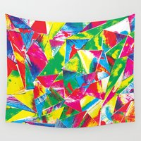 rave Wall Tapestries featuring Rave Paint by Mariah Williams