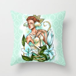 White Swan Ballerina. Throw Pillow