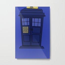 TARDIS: Askew Metal Print