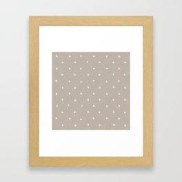 Pattern - crosses on beige/brown background Framed Art Print