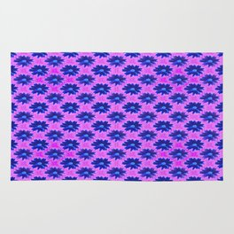 Springtime-power-pattern blue and lilac Rug