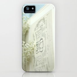 Book and Botanical - Still Life iPhone Case