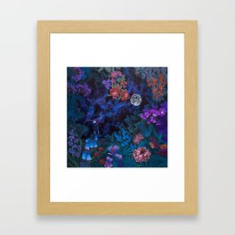 Space Garden Framed Art Print