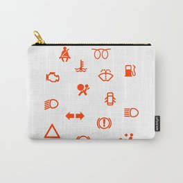 Vehicle Dash Warning Symbols Carry-All Pouch