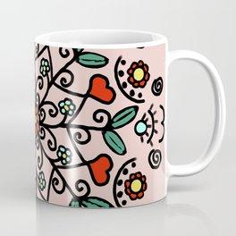 Mandala with hearts   Karina Kamenetzky Coffee Mug
