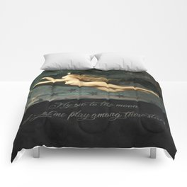 """Fly me to the moon"" Comforters"