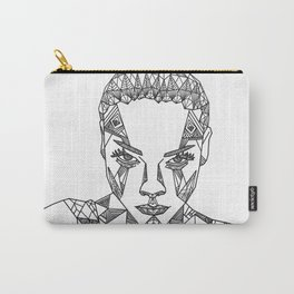 Geometric portrait Carry-All Pouch